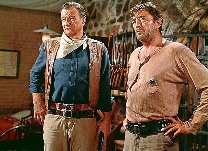 John Wayne a Robert Mitchum ve filmu El Dorado