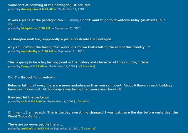 Debata oútocích na komunitním serveru Metafilter