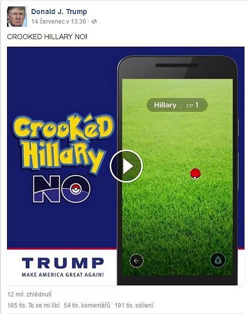 Hillary jako Pokemon Go.