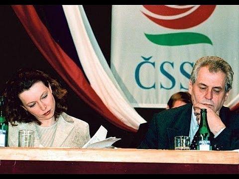 Miloš Zeman a Petra Buzková
