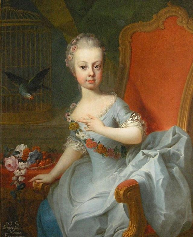 Marie Alžběta vdětství