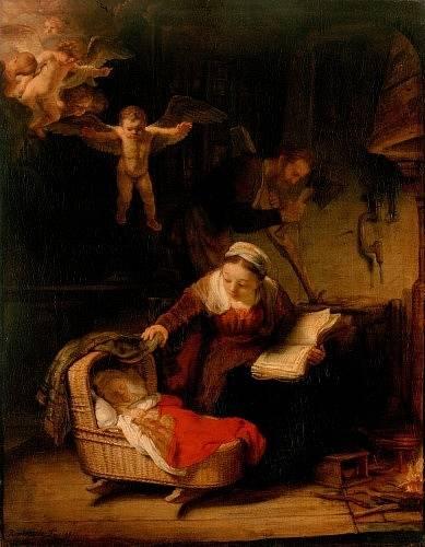 Rembrandt van Rijn: Svatá rodina, 1645