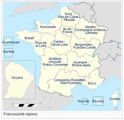Od začátku roku 2016má Francie 18regionů.