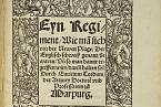 Publikace o anglickém potu, vydaná v roce 1529 v Marburgu