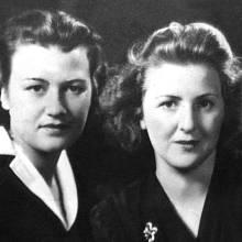 Sestry Gretl (vlevo) a Eva Braunovy