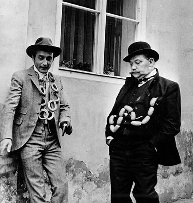 Rudolf Hrušínský a Michal Dočolomanský