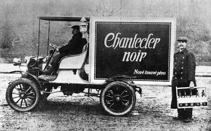první vůz ve službách Staropramenu