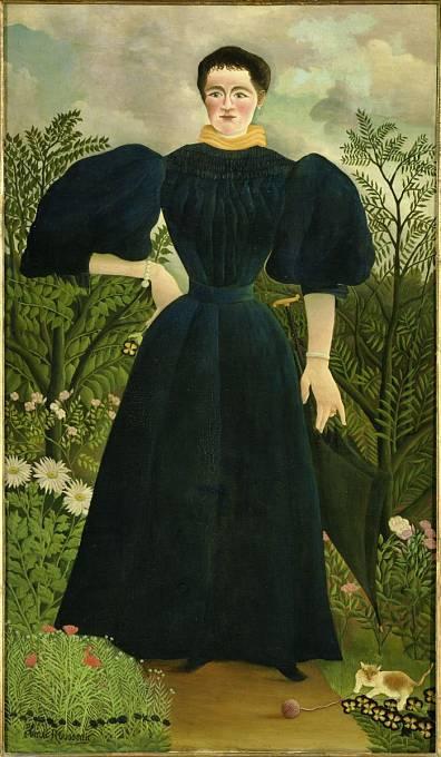 Henri Rousseau, Portrét paní M., kolem 1890, olej na plátně, Paris, Musée d'Orsay © RMN-Grand Palais (Musée d'Orsay) / Hervé Lewandowski