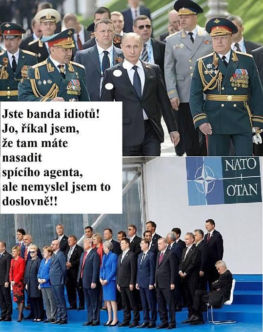 Vladimir Putin se zlobí, spícího agenta si představoval jinak