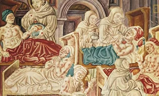 Za původce Černé smrti bývá považován dýmějový mor.