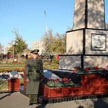 Památník obětí Nedělinovy katastrofy ve městě Bajkonur