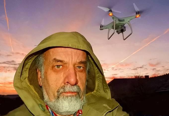 Jan A. Novák s dronem