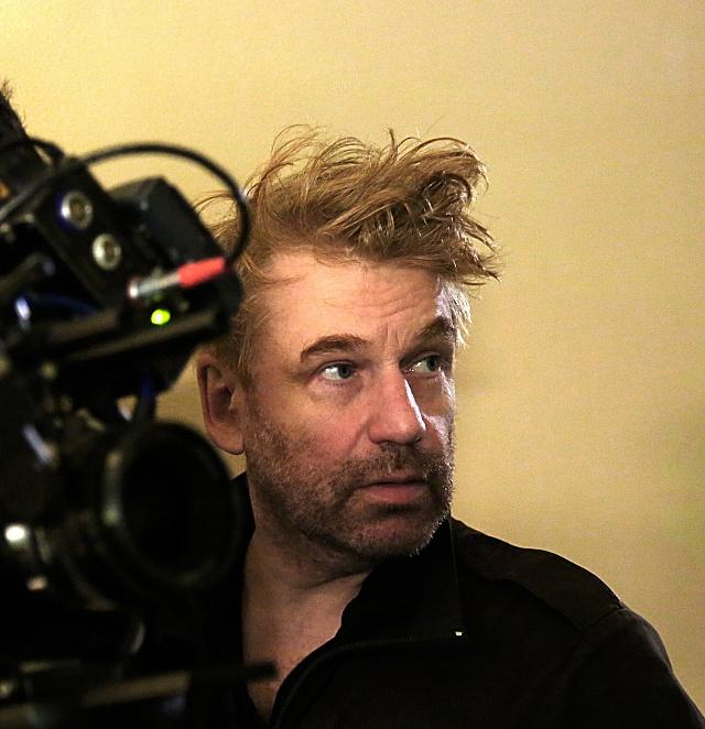 Tomáš Vorel při natáčení nejnovějšího filmu Instalatér zTuchlovic