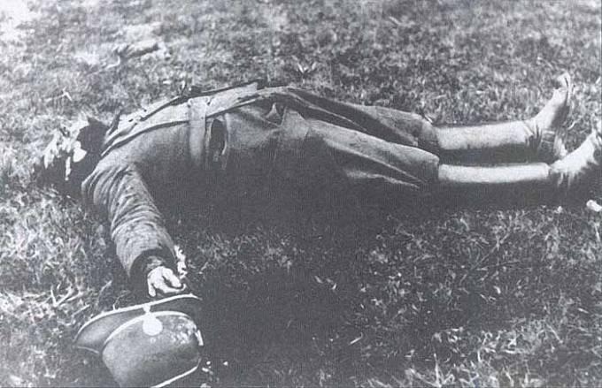 Zastřelený četník František Ometák