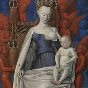 obraz Agnes Sorel coby Madony od Jeana Fouqueta