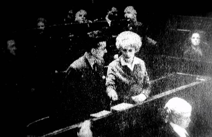 Ian Brady a Myra Hindleyová u soudu