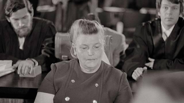 Hildegarde Lächert v 70. letech u soudu