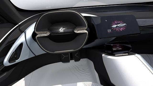 Interiér studie vozu od LeEco