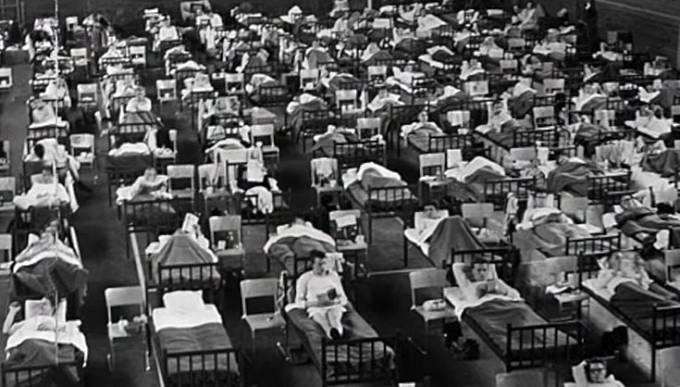 Nemocnice byly přeplněné, pacienti se museli léčit doma.
