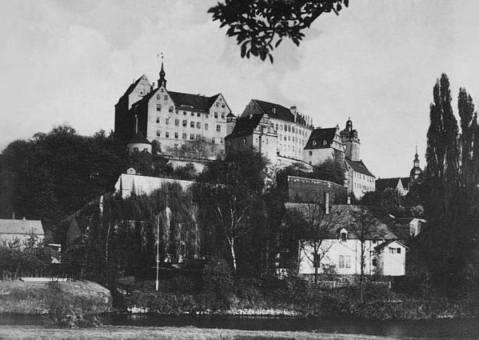 Hrad Colditz, kde byl Douglas Bader za války vězněn.