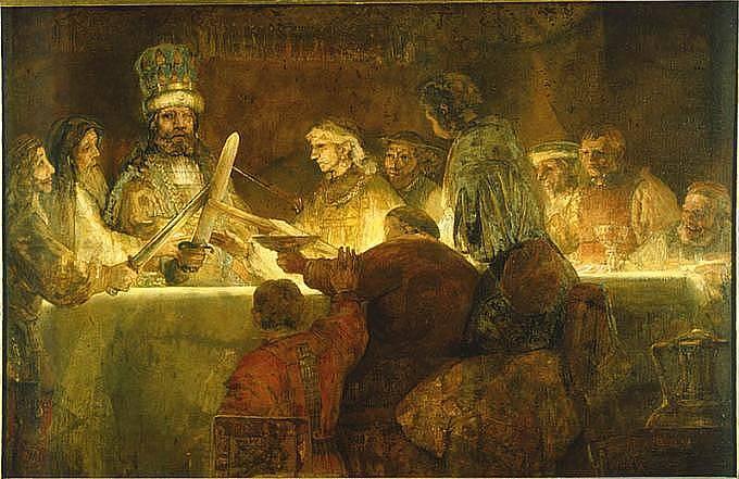 Rembrandt van Rijn: Přísaha Claudia Civila, 1662