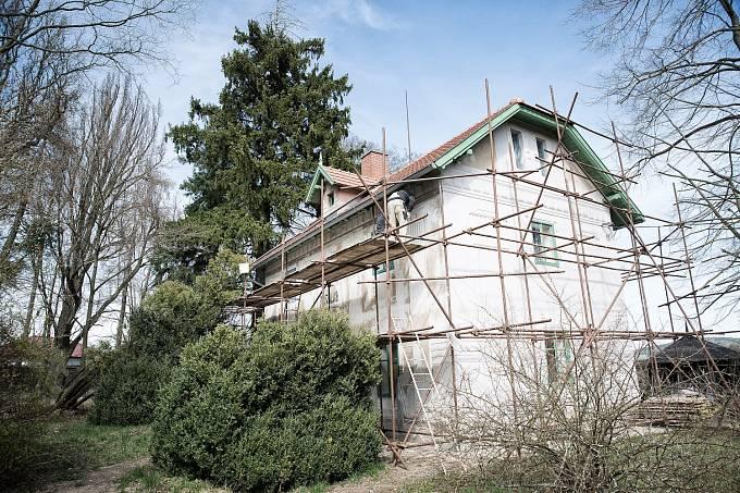 Vila Rusalka právě prochází rekonstrukcí.