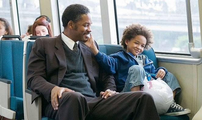 Will Smith a Jaden Smith ve snímku Sťěstí na dosah