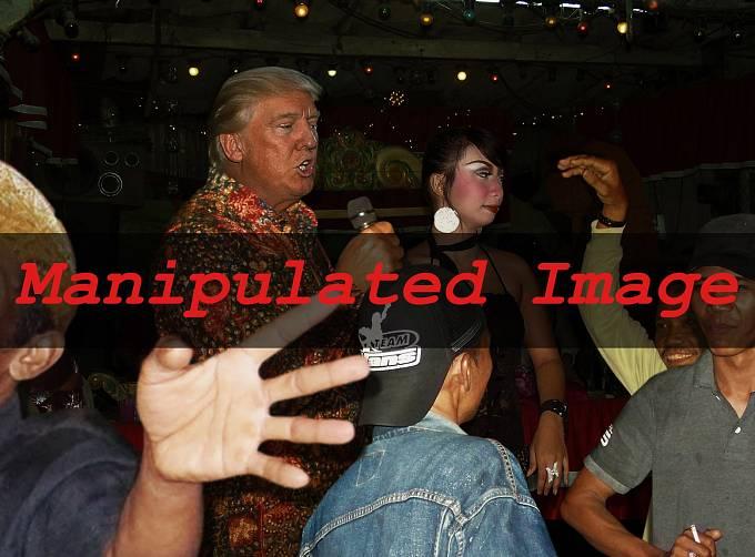 """Donald Trump """"řádící v nočním klubu"""""""