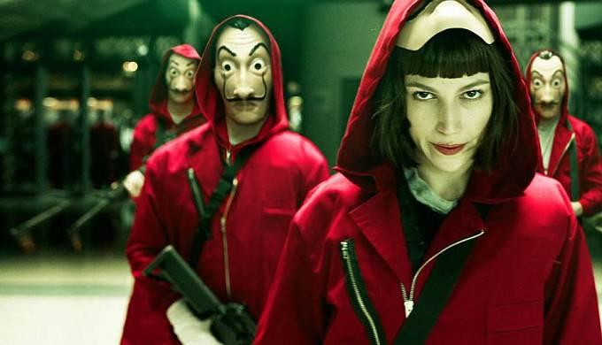 Mezi hlavní taháky Netflixu patří i seriál Money Heist, rovněž evropské produkce