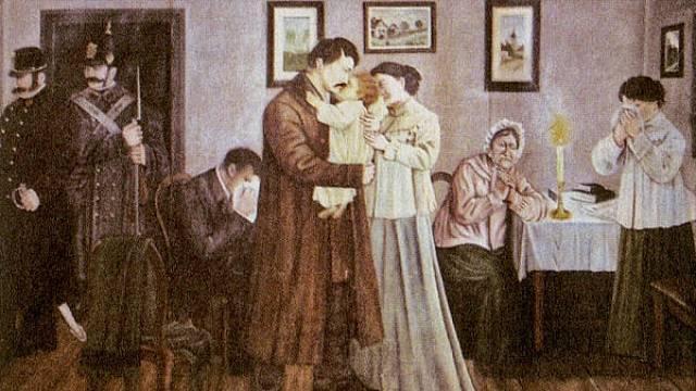 Noční zatýkání Karla Havlíčka Borovského 16.prosince 1851 v Německém Brodě