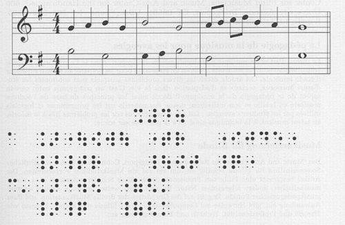 Braillova notace umožnila nevidomým číst noty