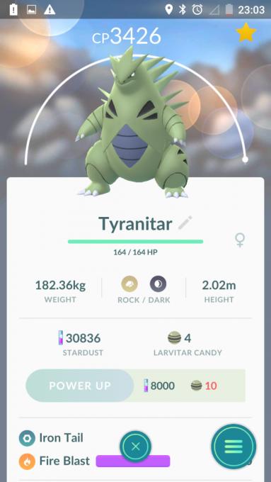 Pokémon Tyranitar