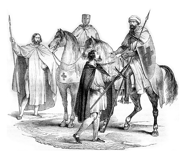 Templáři - ilustrace zr. 1844