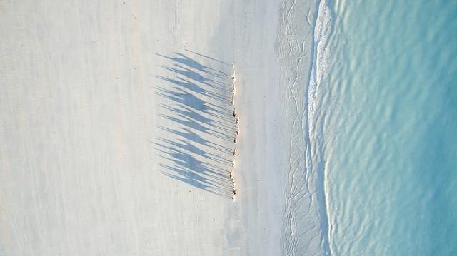 2. místo v kategorii cestování: Velbloudi na pláži, západní Austrálie.