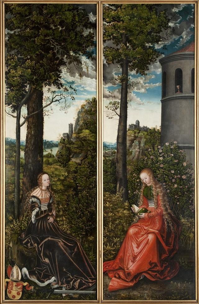 Diptych Lucase Cranacha zapůjčilo galerii olomoucké arcibiskupství.