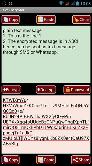 Náhled aplikace AES Message Encryptor