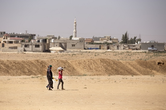 Uprchlický tábor Zaatari v Jordánsku u města Mafrak.