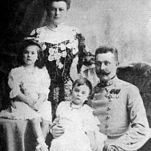 František Ferdinand d´Este s rodinou