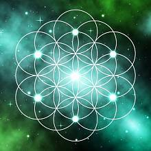 Květ života složený z 19 kružnic