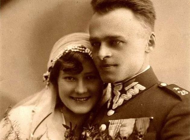 Witold Pilecki s manželkou