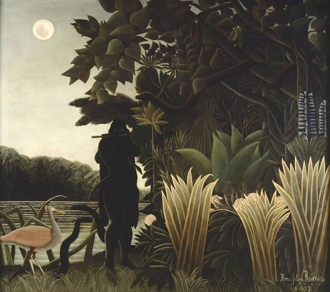 Henri Rousseau, Zaklínačka hadů, 1907, olej na plátně, Paris, Musée d'Orsay, © RMN-Grand Palais (Musée d'Orsay) / Hervé Lewandowski