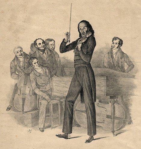 Paganini v roce 1831