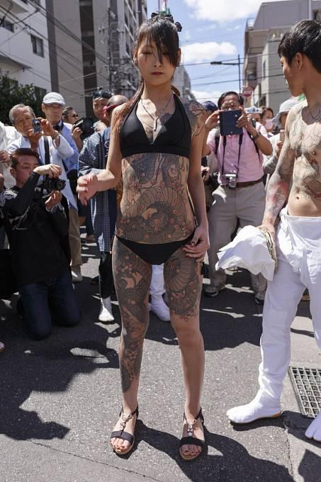 Členka zločinecké organizace Yakuza