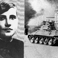 V řadách sovětských tankistů působilo jen několik desítek žen.
