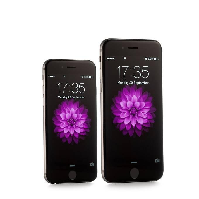 """iPhone 6 a iPhone 6 Plus jsou varianty předposlední generace """"applích"""" mobilů z roku 2014."""