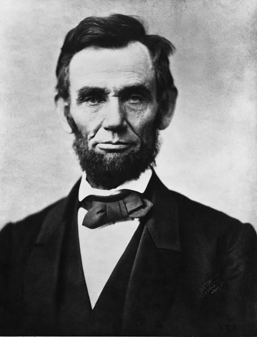 Americký prezident Abraham Lincoln na studiové fotografii
