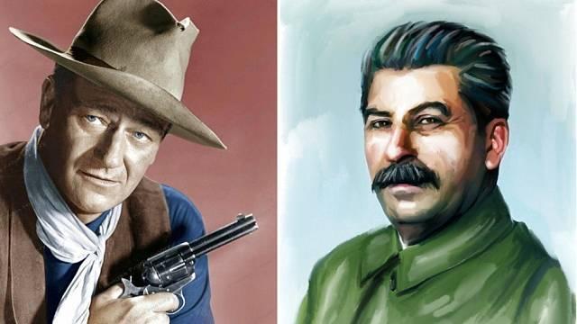 John Wayne / Josif Stalin