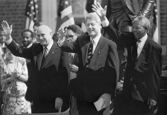 Frederik de Klerk, Biil Clinton a Nelson Mandela