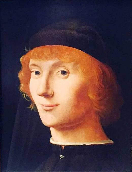 """""""Portrét mladého muže"""" od Antonella da Messiny z roku 1470, který předběhl Da Vinciho Monu Lisu"""