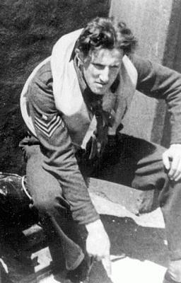 Leopold Šrom během služby v Anglii